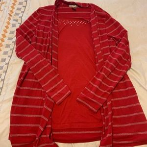 Red and silver white stag sweater!